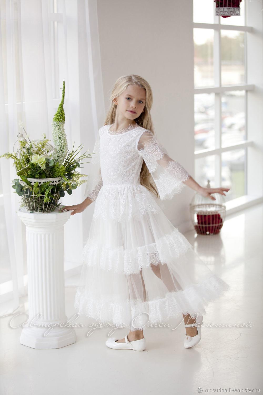 Clothes for Girls handmade. Livemaster - handmade. Buy Dress 'Delicate figurine mini'.White, individual tailoring