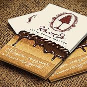 Дизайн и реклама ручной работы. Ярмарка Мастеров - ручная работа Визитка мастера декорирования тортов и нейминг слогана. Handmade.