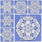 Подарки к праздникам ручной работы. Ярмарка Мастеров - ручная работа Набор снежинок 6 штук. Handmade.