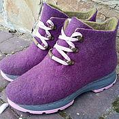 Обувь ручной работы. Ярмарка Мастеров - ручная работа Спортивные Эко ботиночки Орхидея. Handmade.