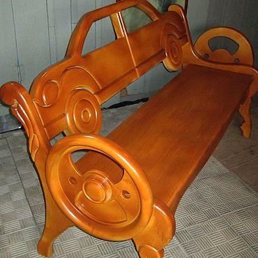 """Мебель ручной работы. Ярмарка Мастеров - ручная работа Диваны: Скамья деревянная """"Автомобиль"""". Handmade."""