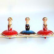 Miniature figurines handmade. Livemaster - original item Mini figures and figurines: Spinning top ballerina. Handmade.