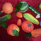 Подарки к праздникам ручной работы. Ярмарка Мастеров - ручная работа Фрукты, овощи - ватная игргушка. Handmade.