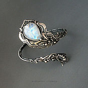 Украшения ручной работы. Ярмарка Мастеров - ручная работа R !!!серебряный браслет с адуляром. Handmade.