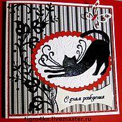 """Открытки ручной работы. Ярмарка Мастеров - ручная работа на день рождения   """"ГРАЦИЯ"""" (с коробочкой). Handmade."""
