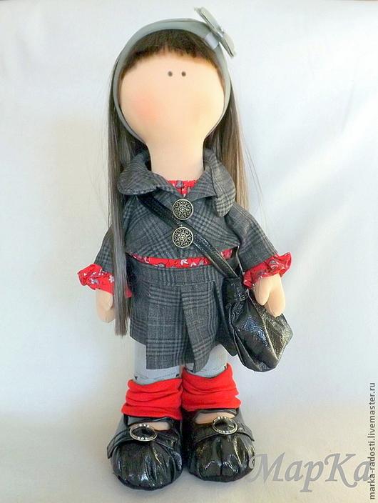 Коллекционные куклы ручной работы. Ярмарка Мастеров - ручная работа. Купить Текстильная кукла Лидочка. Handmade. Темно-серый, серый