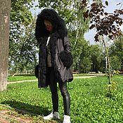"""Одежда ручной работы. Ярмарка Мастеров - ручная работа Куртка-парка """" Черная ночь """". Handmade."""