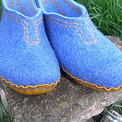 """Обувь ручной работы. Ярмарка Мастеров - ручная работа Тапочки """"Джинс"""". Handmade."""