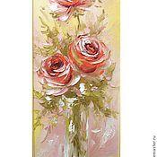 Картины и панно handmade. Livemaster - original item rose painting. Handmade.
