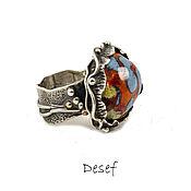 Украшения handmade. Livemaster - original item The ring on the whole finger: Skif with hot enamel. Handmade.