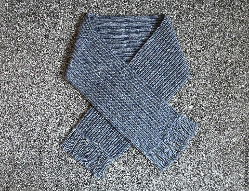 A wide scarf knitted from sheep's wool, gray, Scarves, Nalchik,  Фото №1