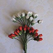 Материалы для творчества ручной работы. Ярмарка Мастеров - ручная работа Розы бутоны  5 мм  2 расцветки 5 штук. Handmade.