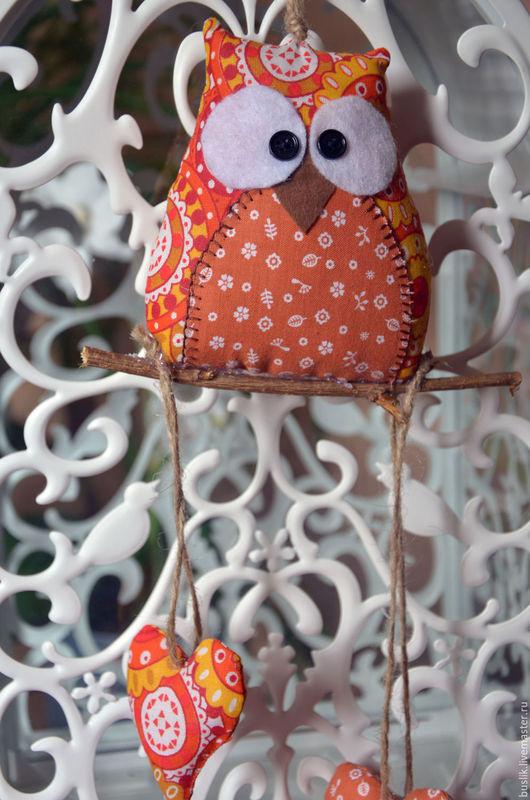 Подвески ручной работы. Ярмарка Мастеров - ручная работа. Купить Интерьерные подвески Совушки. Handmade. Комбинированный, для дома, фетр