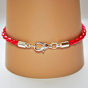 Материалы для творчества handmade. Livemaster - original item Base for leather bracelet with the lobster lock. Handmade.