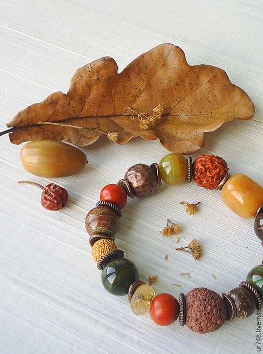 """Браслеты ручной работы. Ярмарка Мастеров - ручная работа. Купить Браслет """"Восточные пряности"""". Handmade. Рыжий, осень, браслет с камнями"""