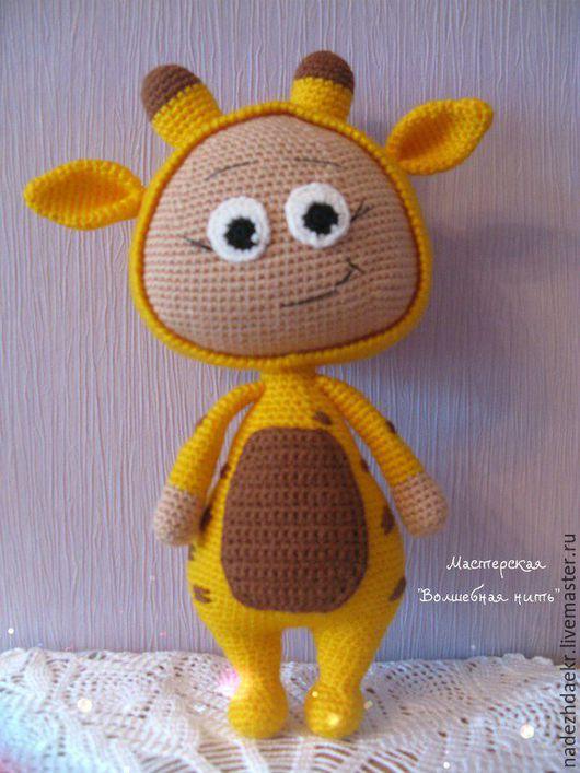 Игрушки животные, ручной работы. Ярмарка Мастеров - ручная работа. Купить Бонни в костюме жирафика. Handmade. Вязание крючком