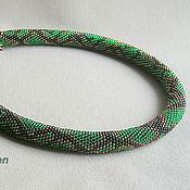 Жгут из бисера Изумрудная змея