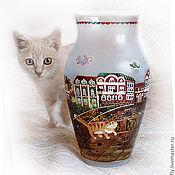 """Для дома и интерьера ручной работы. Ярмарка Мастеров - ручная работа Ваза """"Коты"""". Handmade."""