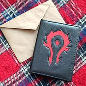 Канцелярские товары handmade. Livemaster - original item Cover for a passport with the sign of the Horde.. Handmade.