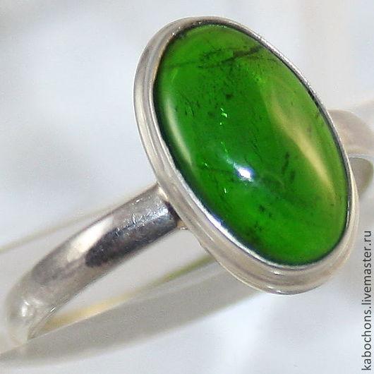 """Кольца ручной работы. Ярмарка Мастеров - ручная работа. Купить КольцА """"Зелено-3"""" Хромдиопсид. Handmade. Зеленый, изумрудный"""