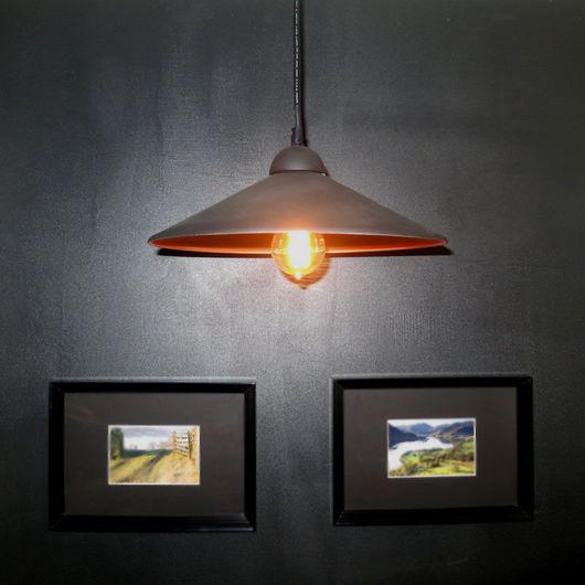 Освещение ручной работы. Ярмарка Мастеров - ручная работа. Купить Подвесной светильник ретро, лофт. Handmade. Черный, винтаж, лофт