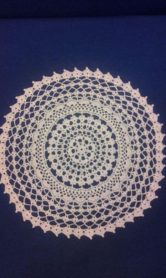 Текстиль, ковры ручной работы. Ярмарка Мастеров - ручная работа. Купить Салфетка круглая, вязанная крючком. Handmade. Салфетка крючком