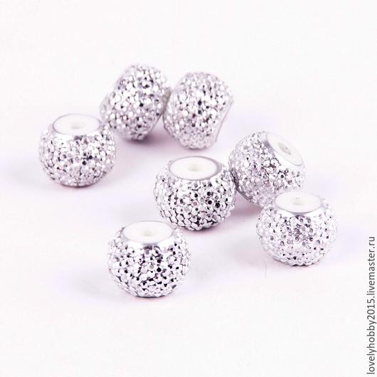 №1 Пластиковые бусы для украшений Серебро