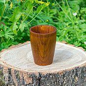 Посуда handmade. Livemaster - original item Natural wood Siberian Cedar wooden Cup for tea C4. Handmade.