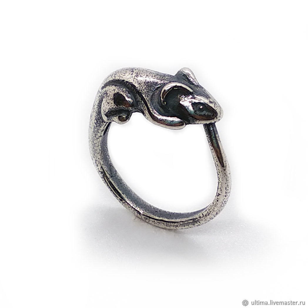 Кольцо: Счастливая мышка, Кольца, Санкт-Петербург,  Фото №1
