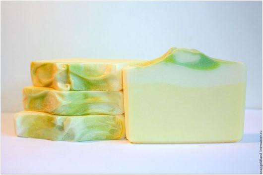 """Мыло ручной работы. Ярмарка Мастеров - ручная работа. Купить """"Лимонная меренга"""" натуральное мыло с нуля.. Handmade."""