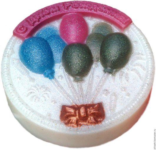 Мыло ручной работы. Ярмарка Мастеров - ручная работа. Купить С днем рождения. Handmade. Комбинированный, мыло ручной работы