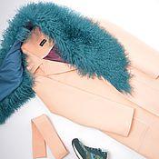 Одежда ручной работы. Ярмарка Мастеров - ручная работа Пальто зимнее Peach с ламой. Handmade.