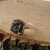 """Украшения ручной работы. Ярмарка Мастеров - ручная работа кольцо """" миниатюрная роза"""" фарфор. Handmade."""
