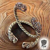Украшения ручной работы. Ярмарка Мастеров - ручная работа Браслет на руку Дракон, мужской браслет из бронзы, славянский стиль. Handmade.