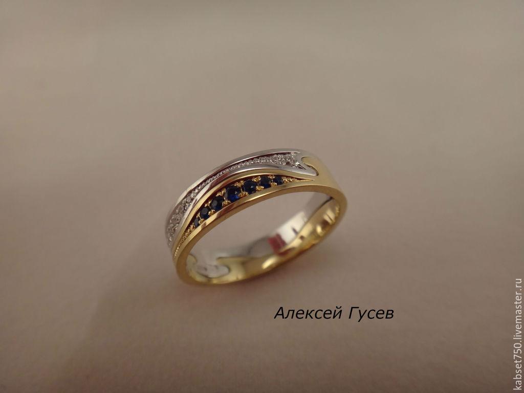 Кольцо разборное, состоит из двух одинаковых половинок. Прелесть в том, что имея 3-4 такие половинки, можно комбинировать колечко по цветам камней или металлов.