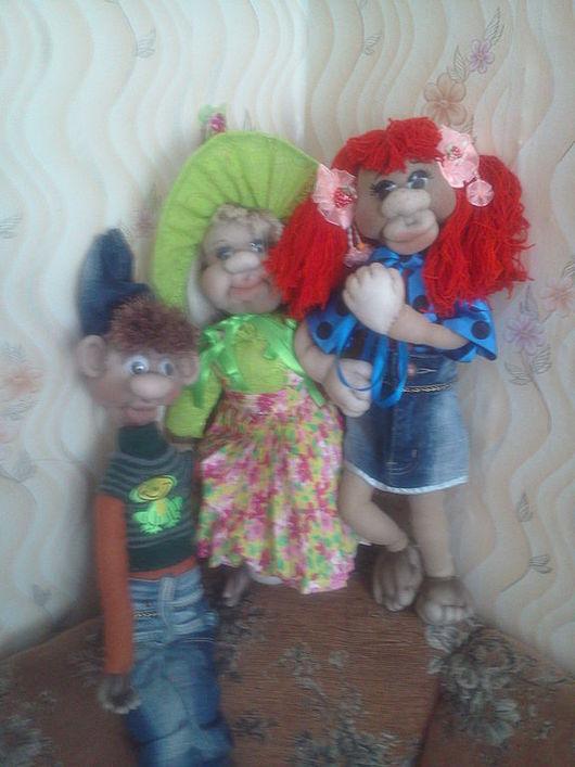 Человечки ручной работы. Ярмарка Мастеров - ручная работа. Купить Скульптурно-текстильные куклы. Handmade. Кукла из капрона, скульптурный текстиль