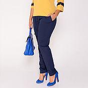 Одежда ручной работы. Ярмарка Мастеров - ручная работа Брючки синие 36167-1. Handmade.