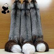 Материалы для творчества handmade. Livemaster - original item Skins silver Fox