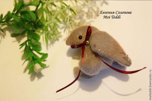 Мишки Тедди ручной работы. Ярмарка Мастеров - ручная работа. Купить птичка счастья. Handmade. Серый, птица игрушка, счастье