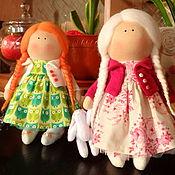 Куклы и игрушки ручной работы. Ярмарка Мастеров - ручная работа Девочки-круглоголовки. Handmade.