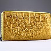Сумки и аксессуары handmade. Livemaster - original item Crocodile leather clutch wallet with one zipper IMA0032Y3. Handmade.