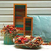 Для дома и интерьера ручной работы. Ярмарка Мастеров - ручная работа Ящики для хранения Бирюзовая Осень. Handmade.