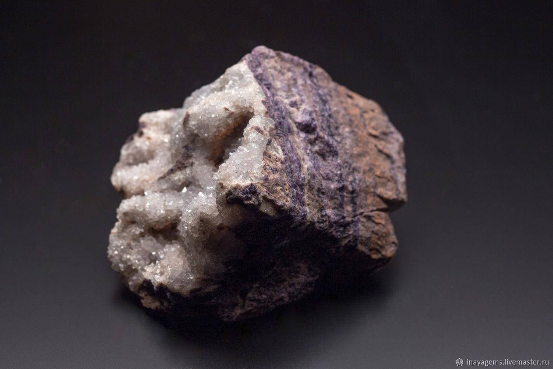 Druse of quartz with fluorite. Terskiy Bereg. Mineralogical sample, Minerals, St. Petersburg,  Фото №1