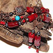 Украшения handmade. Livemaster - original item Bracelet with coral