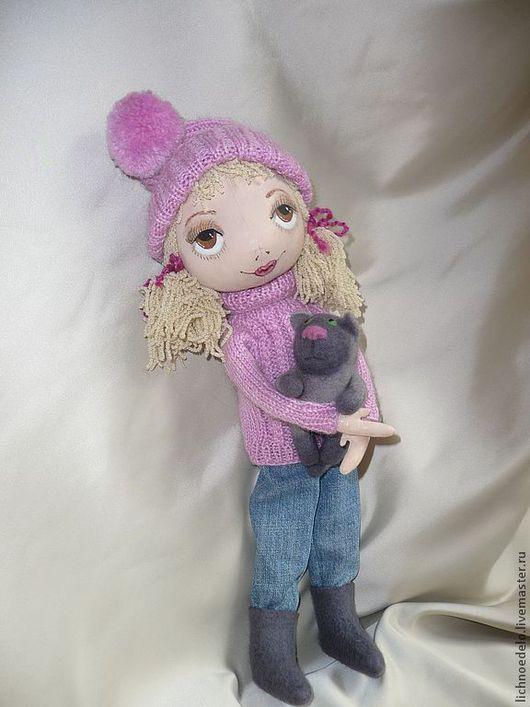 """Коллекционные куклы ручной работы. Ярмарка Мастеров - ручная работа. Купить """"Мой ласковый и нежный зверь..."""" -кукла из грунтованного текстиля. Handmade."""