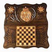 Активный отдых и развлечения handmade. Livemaster - original item Backgammon carved handmade