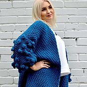 Одежда handmade. Livemaster - original item Knitted cardigan, open knit