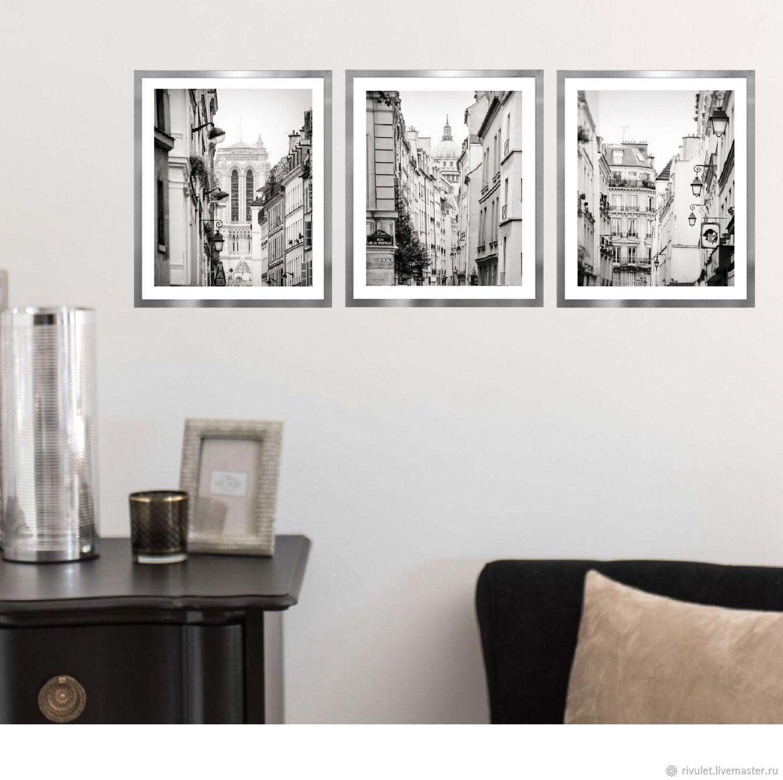 Paris black and white photos interior triptych fine art photographs paris