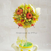 Цветы и флористика ручной работы. Ярмарка Мастеров - ручная работа Топиарии или сама садик я садила - 2:). Handmade.