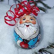 """Подарки к праздникам ручной работы. Ярмарка Мастеров - ручная работа Ёлочная игрушка """"Дед Мороз и Снежный Друг"""". Handmade."""